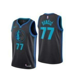 Dallas Mavericks Luka Doncic Black Jersey